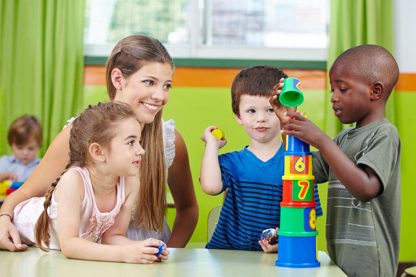 Preschool children with teacher
